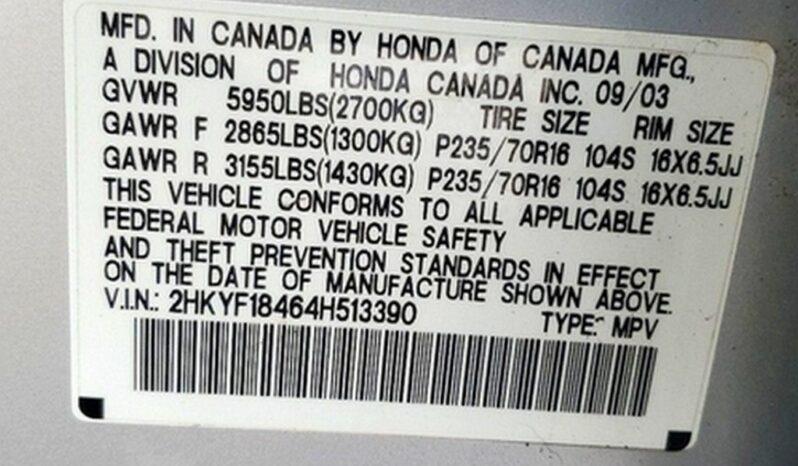 2004 Honda Pilot full